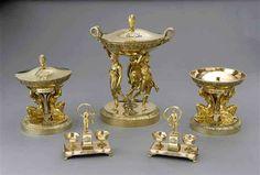 Arts décoratifs Premier Empire - Jean-Baptiste-Claude Odiot (1753-1850) - Pièces du Service Demidoff (en vermeil)