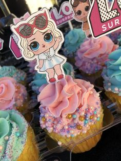 7th Birthday Party Ideas, Tea Party Birthday, Birthday Cupcakes, Lol Birthday Cake, 5th Birthday, Surprise Birthday, Lol Doll Cake, Doll Party, Bday Girl