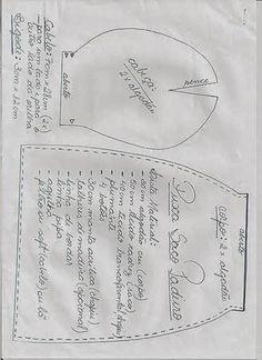 FELTRO MOLDES ARTESANATO EM GERAL: COZINHEIRO