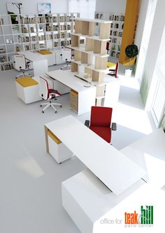 Office for TeacHill by Nikita Borisenko, via Behance