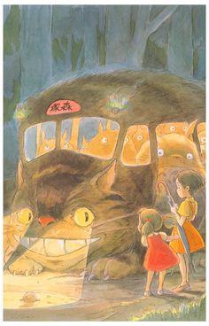 My Neighbor Totoro Catbus Miyazaki Anime Poster 11x17