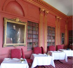 Period Stying National Trust Building Interior Design   Faux Books