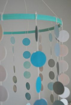 DIY Paint Chip Mobile - over the changing table maybe?