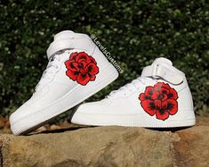 Nike Air Force 1 rose custom shoes (Youth/Women's Sizes)