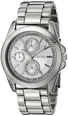 Geneva Womens FMDJM121 Analog Display Quartz Silver Watch * See this great product.Note:It is affiliate link to Amazon.