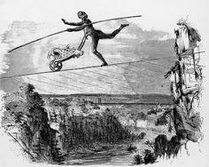 Blondin Walked Across Niagara Falls By Tightrope: Blondin as an Ape