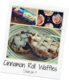 Table for 7: Cinnamon Roll Waffles - These sound amazing... now all I need is a waffle iron...