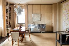Built-ins offer plenty of storage in the dining room.