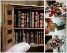 Miniature Bookcase........ - more miniatures: http://bit.ly/1ksaeUA