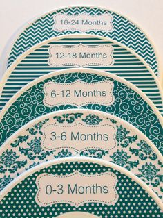 5 Custom Baby Closet Dividers Organizers Shabby Chic Teal 12 Colors Available Unique Baby Girl Shower Gift Infant Stocking Stuffers. $15.00, via Etsy.