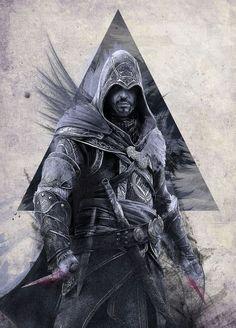 Assassins of the Creed, Ezio Auditore da Firenze Dark Warrior, Fantasy Warrior, All Assassin's Creed, Assasing Creed, Assassins Creed 1, Assassin's Creed Wallpaper, Geek Girls, League Of Legends, Tattoo