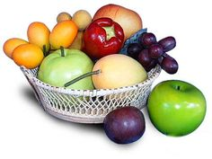 ARTIFICIAL FRUITS FINE HAND MADE ' BASKET OF FRUITS ' D.I.Y. QUALITY. *** Visit the image link more details.