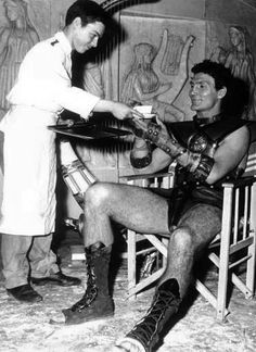 Jack Palance tea break