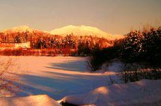 12.1.2015..McKenzie Mt from the High School Pond, Saranac Lake, NY, feb 1, 1979