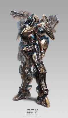 Heavy Armor by Yu Cheng Hong | Sci-Fi | 2D | CGSociety