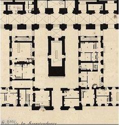 image second tage aile centrale plan versablog 6 versailles pinterest. Black Bedroom Furniture Sets. Home Design Ideas