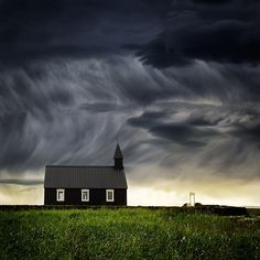 Islands Weather - Church of Budir, Snaefellsnes, Iceland Photo by...Lucyna Koch©