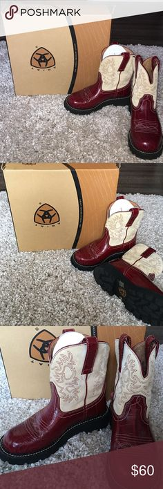 """Aristide Fatbaby new with box. Can you say """"WOW"""" these are gorgeous. With the red gator print, you can wear these with a boho dress or some sexy jeans, watch out!!! Size 7 will fit up to 8m comfortably. I paid full price. Reasonable offers welcome. Ariat Fatbaby Shoes"""
