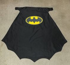 "Batman cape-used ""Sew-in Colorfast Fabric Sheets""(June Tailor name brand) to print out any logo on with a inkjet printer. These sheets are great and are washable!"
