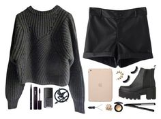 """""""A pinch of gold"""" by mrs-nick-robinson ❤ liked on Polyvore featuring Isabel Marant, Black Apple, NARS Cosmetics, INIKA, Bobbi Brown Cosmetics, Rachel Entwistle, Bling Jewelry and MAC Cosmetics"""