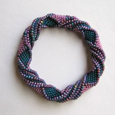Bead Crochet Bangle Pattern: Will You by WearableArtEmporium