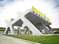 Innovative gas station found in Gori, Georgia, USA designed by architect J. Mayer. H, and was constructed and finished in 2009.