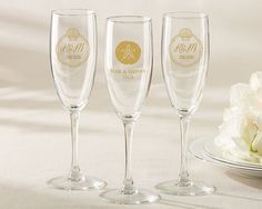 PERSONALIZED CHAMPAGNE FLUTE – BEACH TIDES