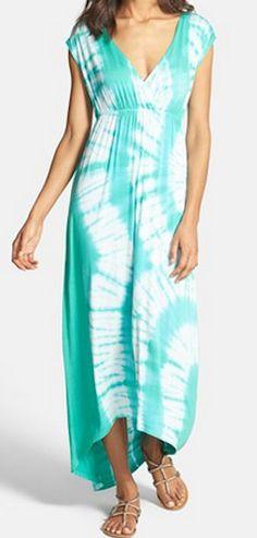 Tie dye maxi dress http://rstyle.me/n/jqr9mnyg6