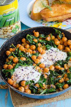 Avocado Salad Recipes, Good Food, Yummy Food, Chana Masala, Healthy Life, Healthy Food, Spinach, Main Dishes, Vegan Recipes