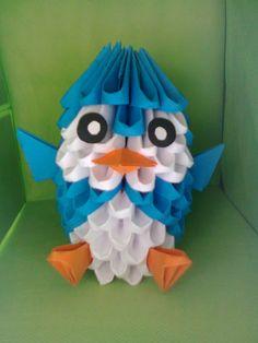 Pingüino origami DIY