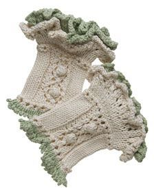 Ruffled Wristwarmers - Free Knitting Patterns by Kerin Dimeler- Laurence