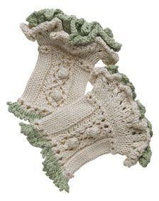 Ruffled Wristwarmers - Free Knitting Patterns by Kerin Dimeler- Laurence