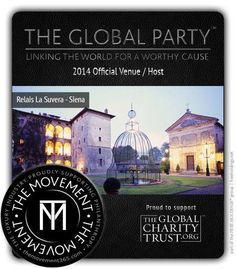 Relais La Suvera is very proud to host The Global Party with a very special event in September 2014 and be part of THE MOVEMENT where the luxury industry supports philanthropy.