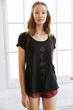 Truly Madly Deeply Symbolic Lines Swingy Tee - Urban Outfitters
