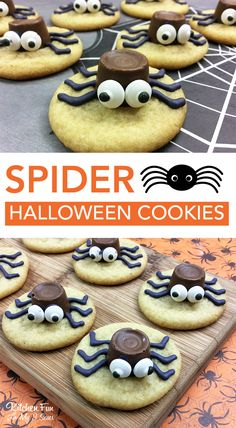 These Halloween Spider Cookies are so much fun! If you're looking for something to get your kids into the kitchen with you this is perfect.
