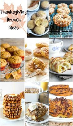 Thanksgiving Brunch Recipes - perfect for house guests and Fall entertaining.
