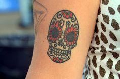 Love this Dia de los Muertos skull