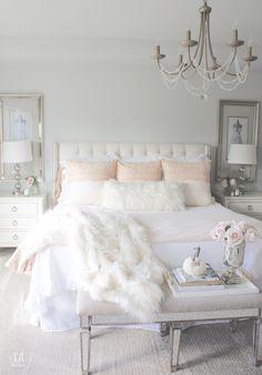Grace Duvet Set - Pink Champagne - Home - Bedroom Decor Girl Bedroom Designs, Room Ideas Bedroom, Home Decor Bedroom, Cute Bedroom Ideas, Modern Bedroom, Feminine Bedroom, Blush Pink Bedroom, Pink Master Bedroom, Contemporary Bedroom