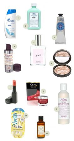 pregnancy beauty essentials - not that I am pregnant! But good for a makeup artist like myself to know....and someday in the future, this will come in handy for me!