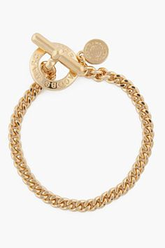 MARC BY MARC JACOBS gold Toggles & Turnlocks Mini Toggle Bracelet