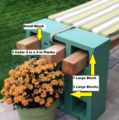 {CINDER BLOCK BENCH} | Do It Yourself by Kimberly