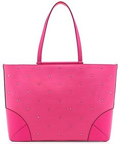 #MCM Claudia Studded Shopper Handbag Tote Large Pink MSRP $850 NWT Model #: MWP 6SCA01 PU001 Size: Large W 43 x H 28 x D 17 cm Color: Pink This Shoulder bag/tote...