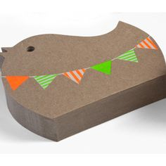 Notelets - Birdy Bunting by Earth Greetings