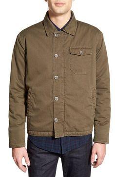 Velvet by Graham & Spencer 'Rebel' Trim Fit Fleece Lined Shirt Jacket