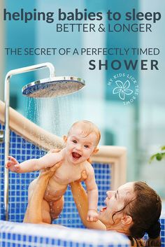 Do you have a catnapping baby. A perfectly timed shower could be the solution to having them sleep better and longer.
