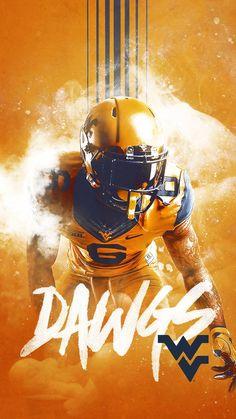 West Virginia Sports Graphic Design, Graphic Design Posters, Sport Design, Football Poses, Sports Advertising, Hero Poster, Banners, Plakat Design, Sports Graphics