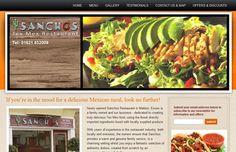 Sanchos Mexican Restaurant - design and development of website
