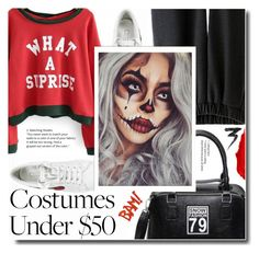 """""""Go to halloween party"""" by soks ❤ liked on Polyvore featuring Marc Jacobs, Maybelline and Manic Panic NYC"""