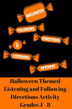 Listening and Following Directions Activity - This is a perfect activity for your classroom Halloween party or literacy class in the days leading up to Halloween. This activity is easily converted into a reading comprehension / close reading assignment. Great to use as a center or a way to extend a reading lesson for students who finish earlier. Your students will love this activity and ask for more! Listening Activities, Active Listening, Listening Skills, Classroom Activities, Listening And Following Directions, Following Directions Activities, Creative Thinking Skills, Classroom Halloween Party, Be My Teacher