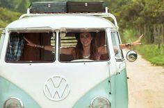 VW Splitscreen camper with safari windows